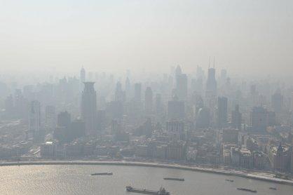 smoggy shanghai