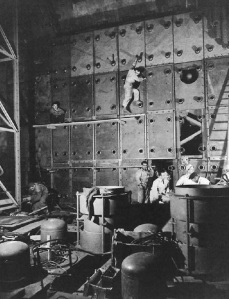Construction of the G2 reactor at Marcoule, which produced weapons-grade plutonium for French atomic bombs. courtesy of CEA.MAH.Jahan