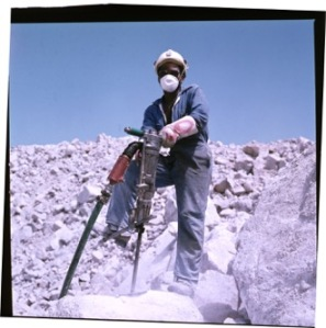 Namibian uranium miner, circa (courtesy of Rössing Uranium Limited)