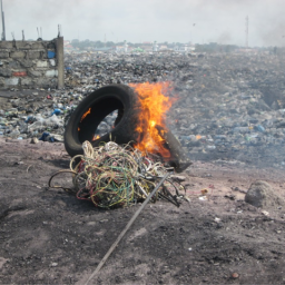 On Electronic Pyropolitics and Pure Earth Friction in Agbogbloshie