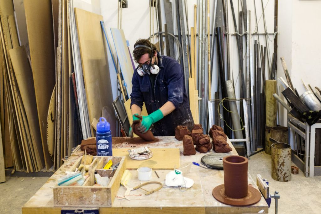 LONDON SCULPTURE WORKSHOP, ENGLAND – FEBRUARY 11, 2015