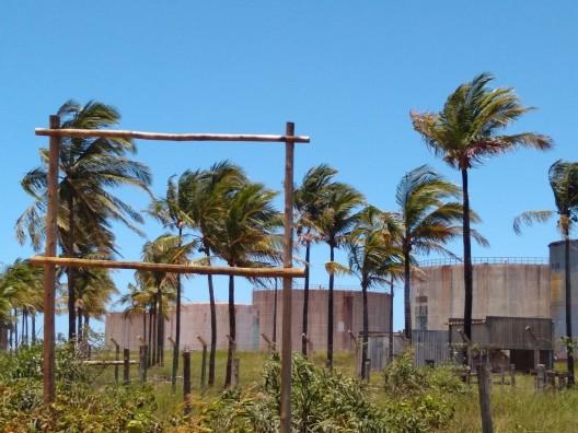 Creado Image 1. Oil storage tanks in Regência Augusta Beach