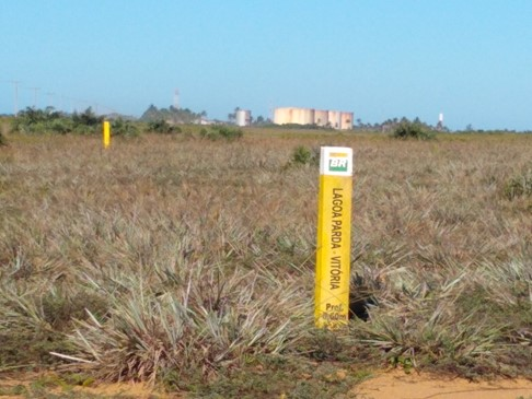 Creado Image 2. Oil storage tanks and gas pipeline in Regência Augusta Beach