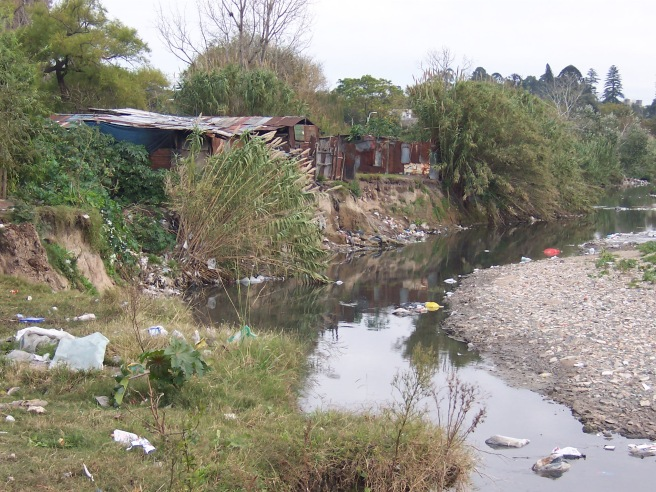 Renfrew - Squatter settlement on Miguelete River
